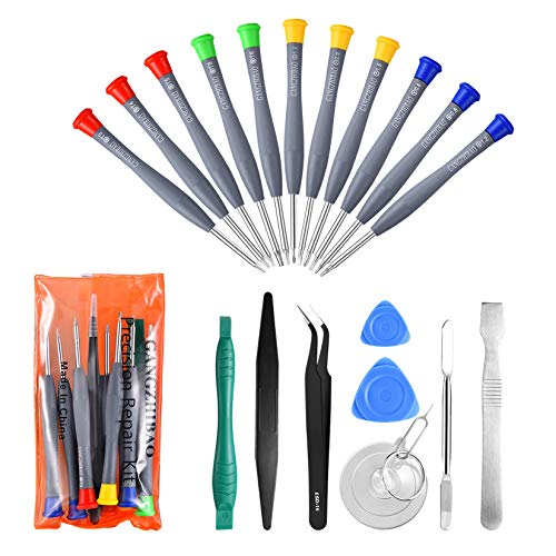 21pcs Precision Screwdriver Set Magnetic,GangZhiBao Repair Tools Kit for Fix Phone/iphone,Computer/PC,Tablet/Pad,Watch,PS4 - Replace Screen Battery Camera Small Electronics Open Pry Tool Kits Sets DIY - Office Tools Pc