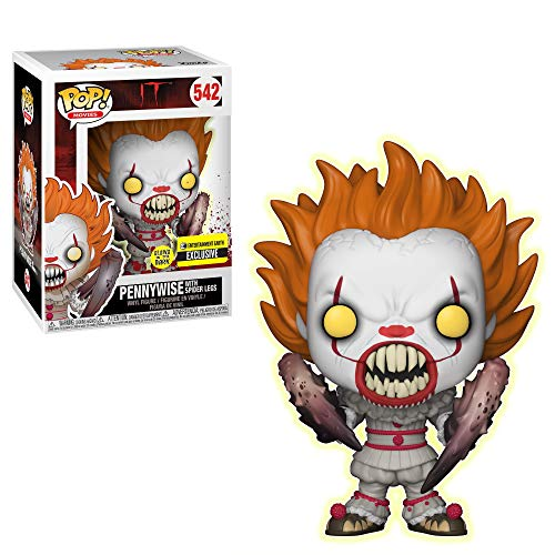 Funko Pop! Movies IT Pennywise with Spider Legs Glow-in-The-Dark Stand