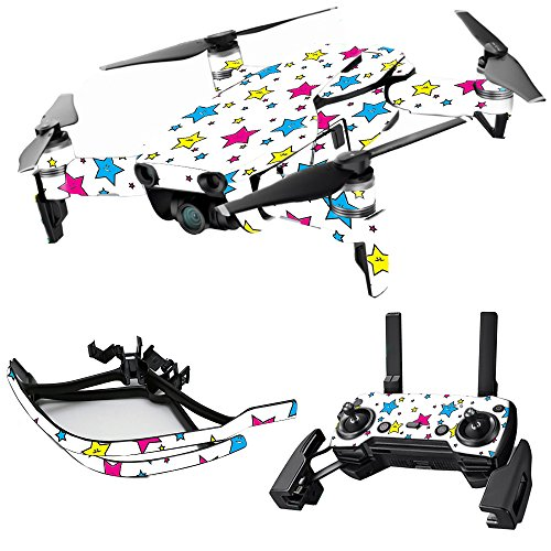 MightySkins Skin for DJI Max Coverage - Smiley Stars | Protective, Durable, and Unique Vinyl Decal wrap Cover | Easy to Apply, Remove, and Change Styles | Made in The USA