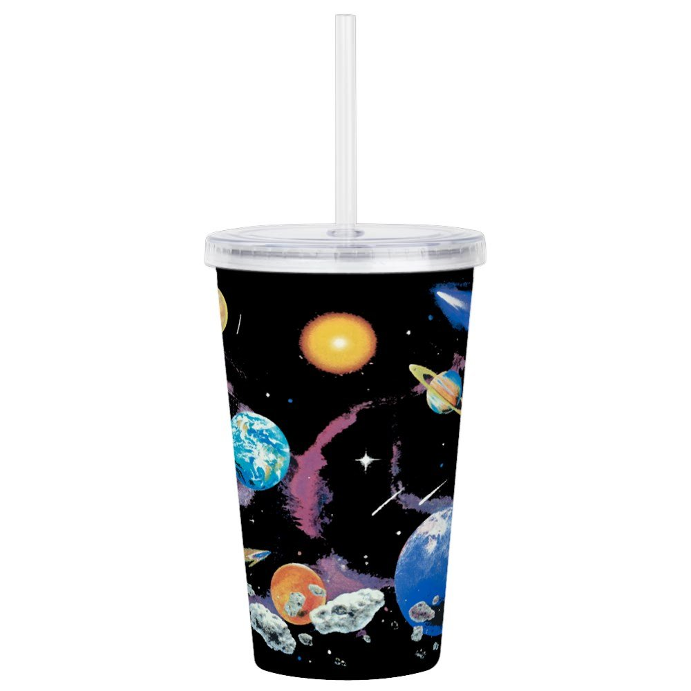 Acrylic Insulated Water Bottle Cup Solar System And Asteroids