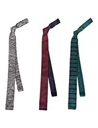 BMC Stylish 3pc Mixed Mens Fashion Knitted Tie Accessory - The Guy Next Door