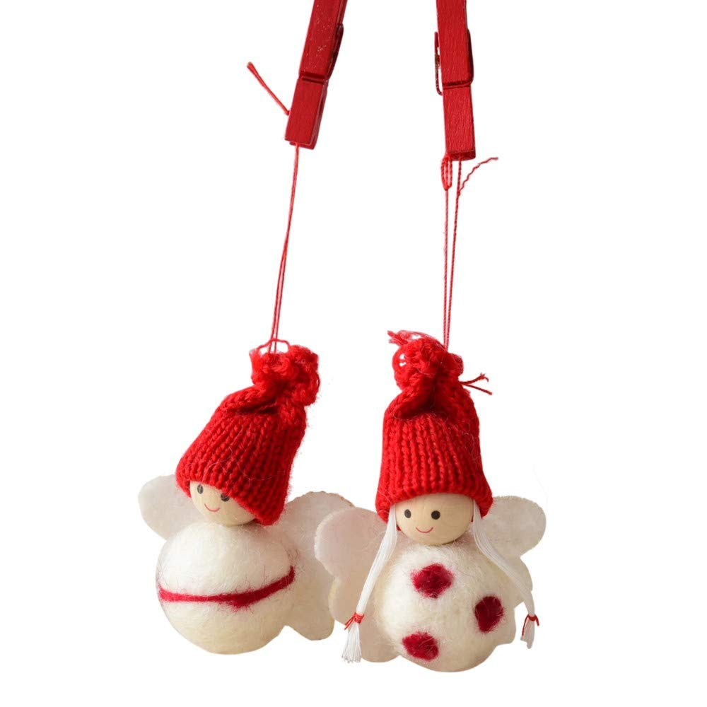 Christmas Decoration Libermall Home Decoration Christmas Tree Pendant Hanging Cute Snowman Pine Cones Xmas Holiday Ornaments, Perfect for Christmas Party Pendant Best Gift for Kids (G)