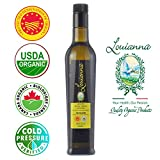 Louianna Certified Organic & P.D.O Extra Virgin Olive Oil -Produced our family estate located in Molise,Italy-500 ml-Organically Milled- Vitamin E 3.0 mg per tbsp -Polyphenols 0.75 mg per tbsp- Low Acidity 0.29% to 0.35%