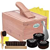 FOOTMATTERS Red Cedar Boot & Shoe Care Shine Box - Premium Polish Kit