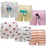 Skhls Little Girls Boyshort Hipster Panties Kids Underwear Set,6pack Multicolor,5t
