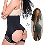 Women's Butt Lifter Shaper Seamless Tummy Control Hi-waist Thigh Slimmer,Black,XL/2XL