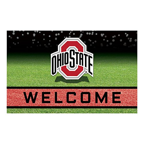 FANMATS 19971 Team Color Crumb Rubber Ohio State University Door Mat, 1 Pack State University Door