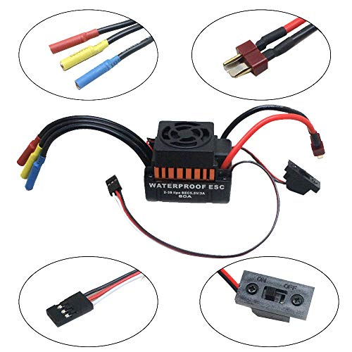 Ackful9T 4370KV Brushless Motor + 60A ESC Speed Controller Combo ME720 for 1/10 RC Car -