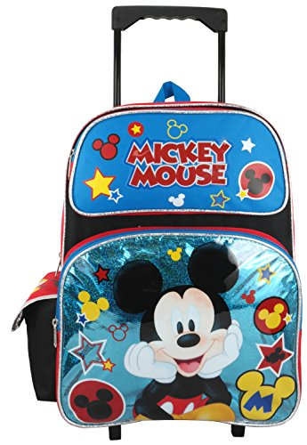 """Disney Mickey Mouse 16"""" Large Rolling Backpack"""