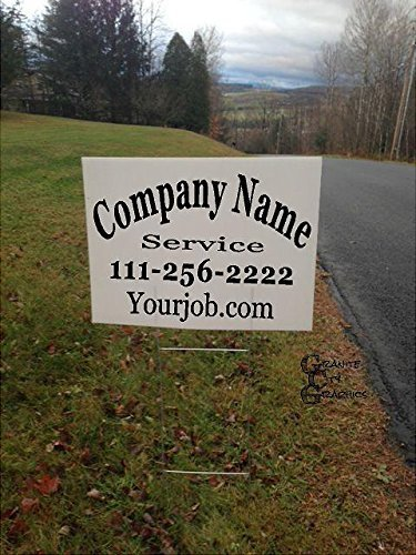 18 x 24 Custom Double-Sided Yard Sign with Metal Stakes (Custom Yard Sign)
