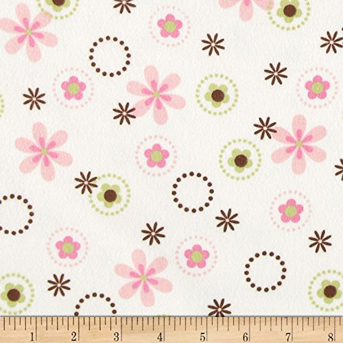 Robert Kaufman Cozy Cotton Flannel Multi Floral Garden Fabric by The Yard,