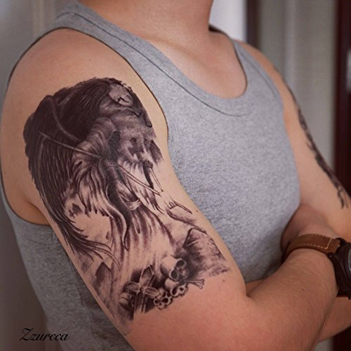 Large Realistic Temporary Tattoos Cover Set 5 Pcs Stickers For Men ...