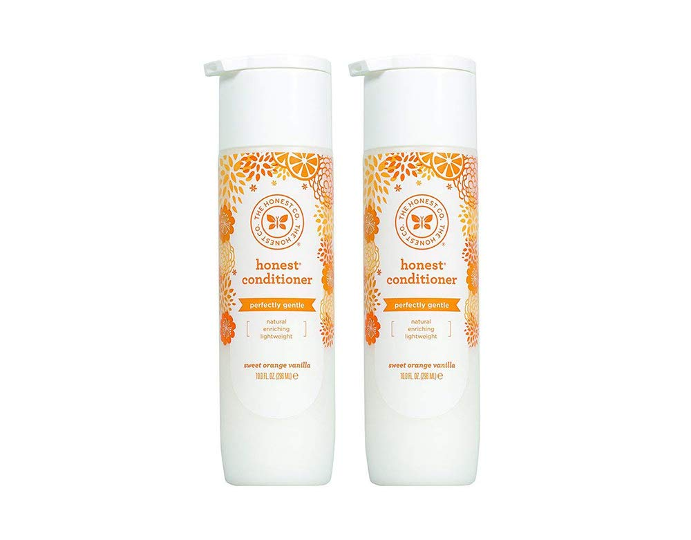 Honest Perfectly Gentle Hypoallergenic Conditioner with Naturally Derived Botanicals, Sweet Orange Vanilla, 10 Fluid Ounce (2 Bottles) by The Honest Company