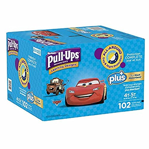 Learning Designs Pull-Ups for Boys - The Most Absorbant Huggies Training Pant (Size 4T-5T: 102ct, 38-50lbs)