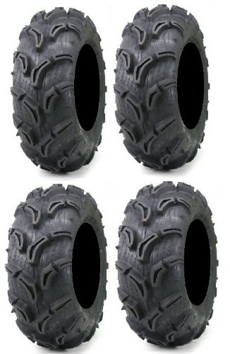 Full set of Maxxis Zilla 28x10-12 and 28x12-12 ATV Mud Tires (4)