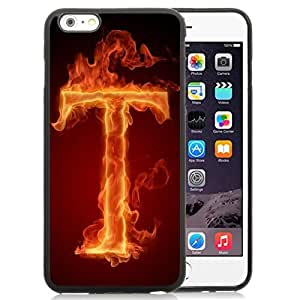 New Personalized Custom Designed For iPhone 6 Plus 5.5 Inch Phone Case For Burning Letter T Phone Case Cover wangjiang maoyi