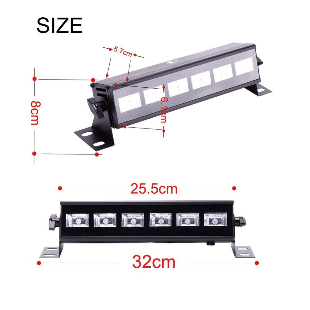 U`King Black Light Bar 6 LED x 3W for Glow Parties by RF Remote Control and DMX Controller by U`King (Image #6)