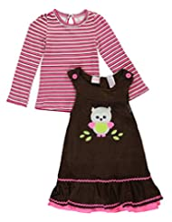 "Nannette Little Girls' Toddler ""Corduroy Flounce"" 2-Piece Outfit"
