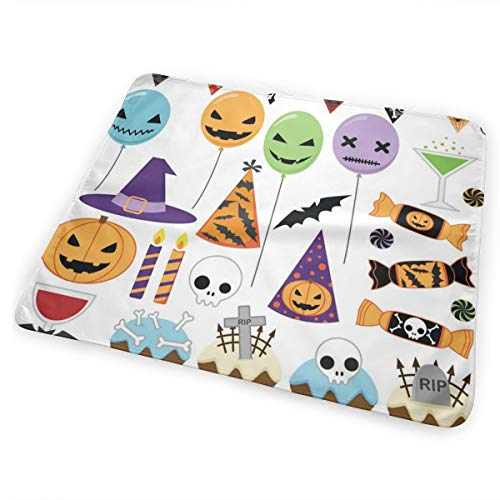 Pamdart Halloween Party Balloons Champagne Waterproof Leakproof Replacement Diaper Pad Reusable for Unisex Baby