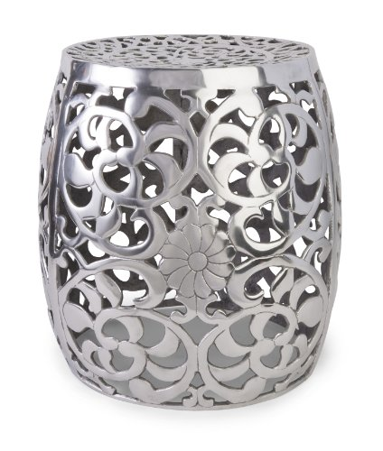 IMAX 60991 Paige Aluminum Garden Stool from Imax