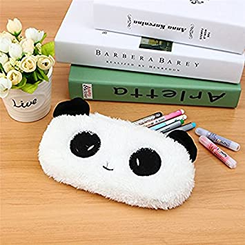 Cosanter 1 X Mignon Animal Trousse en Court Peluche Cartoon Stylo Sac Papeterie /étudiante Multifonctionnel Maquillage Sac