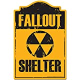 Fallout Shelter Novelty Sign | Indoor/Outdoor | Funny Home Decor for Garages, Living Rooms, Bedroom, Offices | SignMission Personalized Gift