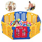 Baby Playpen 8 Panel Kids Safety Play Center Yard Home Indoor Outdoor Fence