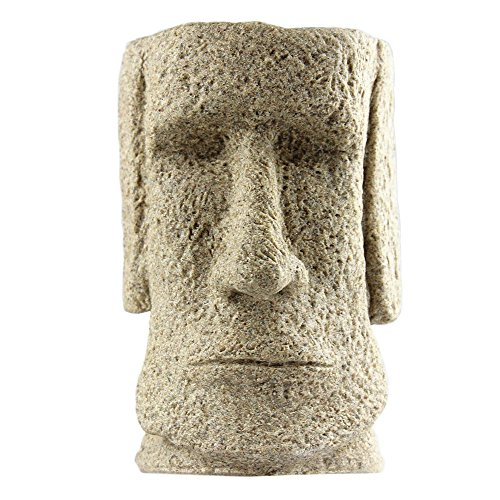 BRILA® Pen Pencil Pot Holder, Easter Island Statue Style Desktop Pencil Container, Desk Pencil Pot, Desktop Stationery Organizer, Home Office Desktop Decoration, Creative Gift