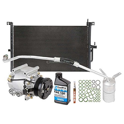 A/C Kit w/AC Compressor Condenser & Drier For Jaguar X-Type 2005-2008 - BuyAutoParts 60-80642CK New -
