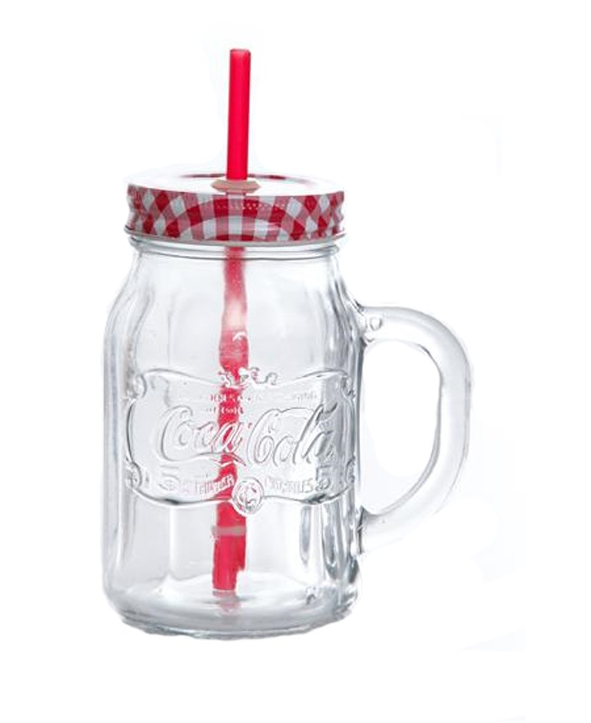 Gibson Coca Cola Mason Jar 4pc Set