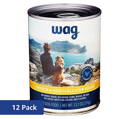 Wag Wet Dog Food, Chicken & Vegetable Stew Recipe, 13 2 oz Can (Pack of 12)