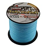 Ashconfish Super Strong Braided Fishing Line-4 Strands Fishing Wire 500M/546Yards 100LB Blue