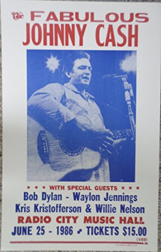 Johnny Cash in Concert Poster
