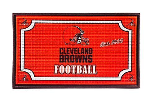 Team Sports America 41EM3807 Embossed Door Mat, Cleveland Browns