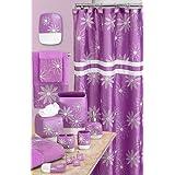 Popular Bath Daisy Stitch Towel Set, Lilac