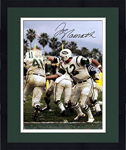 Framed Joe Namath New York Jets Autographed 16