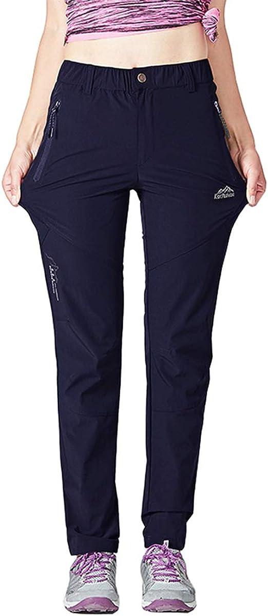 Pantalones de senderismo de secado r/ápido para mujer duraderos y bolsillos con cremallera ultraligeros con protecci/ón UV Donhobo
