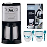 Cuisinart DGB-650BC Grind & Breww Thermal 10-Cup Automatic Coffeemaker + 2-Pack Coffee Mug & Iced Beverage Cup + Accessory Kit (Certified Refurbished)