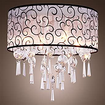 Glighone Lámpara Colgante Cristal 4*E14 40W Lámpara de Techo Luz Moderna Lámpara de Araña Iluminación Contemporáneo Elegante No Incluye Bombillas