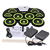 Silicone Portable Foldable Digital USB Midi Roll-up Electronic Drum Pad Kit with Stick and Foot Pedal