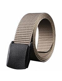 Binmer(TM) Wild-Men-Canvas-Belt-Hypoallergenic-Metal free-Plastic-Automatic-Buckle