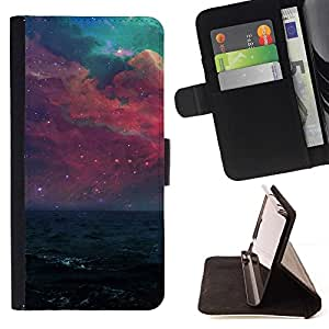 Momo Phone Case / Flip Funda de Cuero Case Cover - Hermosa galaxia púrpura;;;;;;;; - HTC DESIRE 816