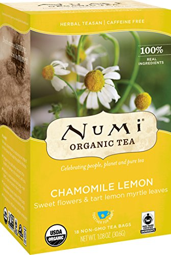 Numi Organic Tea Chamomile Lemon, 18 Count Box of Tea Bags (Pack of 3) Herbal Teasan