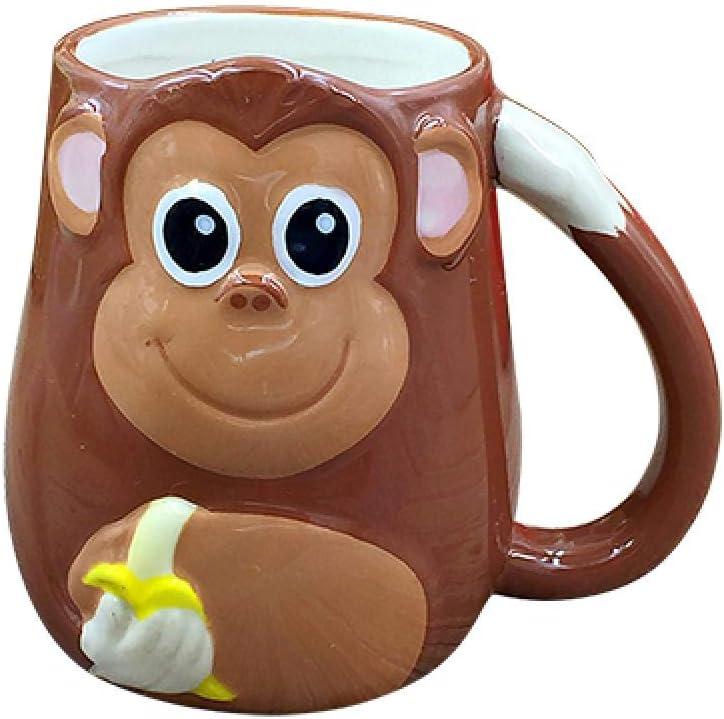 Amazon Com 123arts 3d Ceramics Monkey Coffee Mug Water Tea Cup With Handle Kitchen Dining