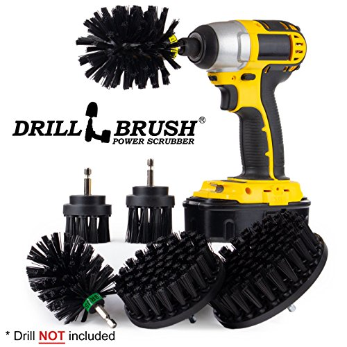 (The Ultimate No-Wire Grill Brush Kit - BBQ Accessories - Drill Brush - Rust Remover - Cast Iron Skillet - Grill Cleaner - BBQ Brush - Grill Accessories - Grill Scraper - Electric Smoker - Gas Grill)