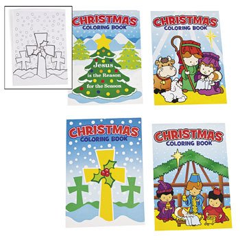 Christmas Religious Coloring Books by Fun Express