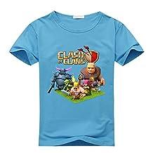 Custom Clash Of Clans Boy's Kids T-Shirt Blue M