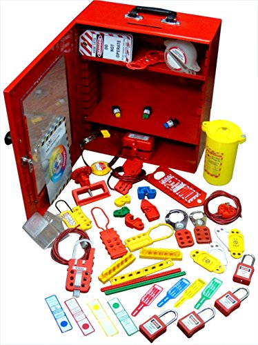 Osha Electrical Lockout Tagout Station Kit - Red (With Osha Lock) by LOTO