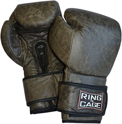 Platinum GelTech Training Boxing Gloves 16oz - Safety Strap , for Boxing, MMA, Muay Thai (Brown) (Boxing Raja Gloves)