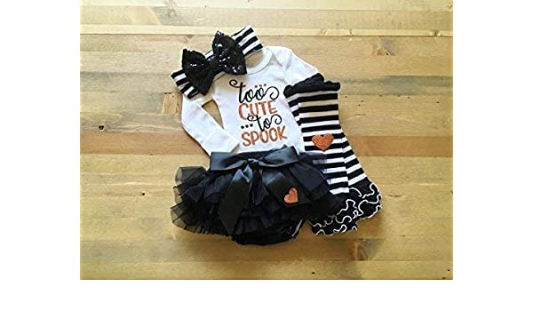 72ed444166554 Amazon.com: First Halloween Outfit, Halloween Outfit for Newborn Girl, Baby  Girl 1st Halloween, Baby Halloween Costume, Newborn Trick or Treat Outfit:  ...